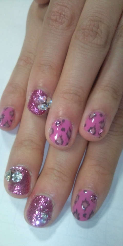 PRIME No.325「ラメ2ピンク・ヒョウ・英字nail<br />  」